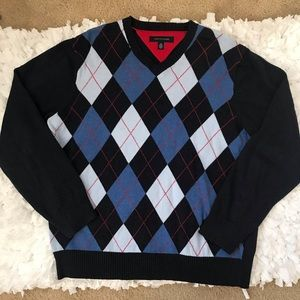 Men's Tommy Hilfiger Sweater V-Neck Large